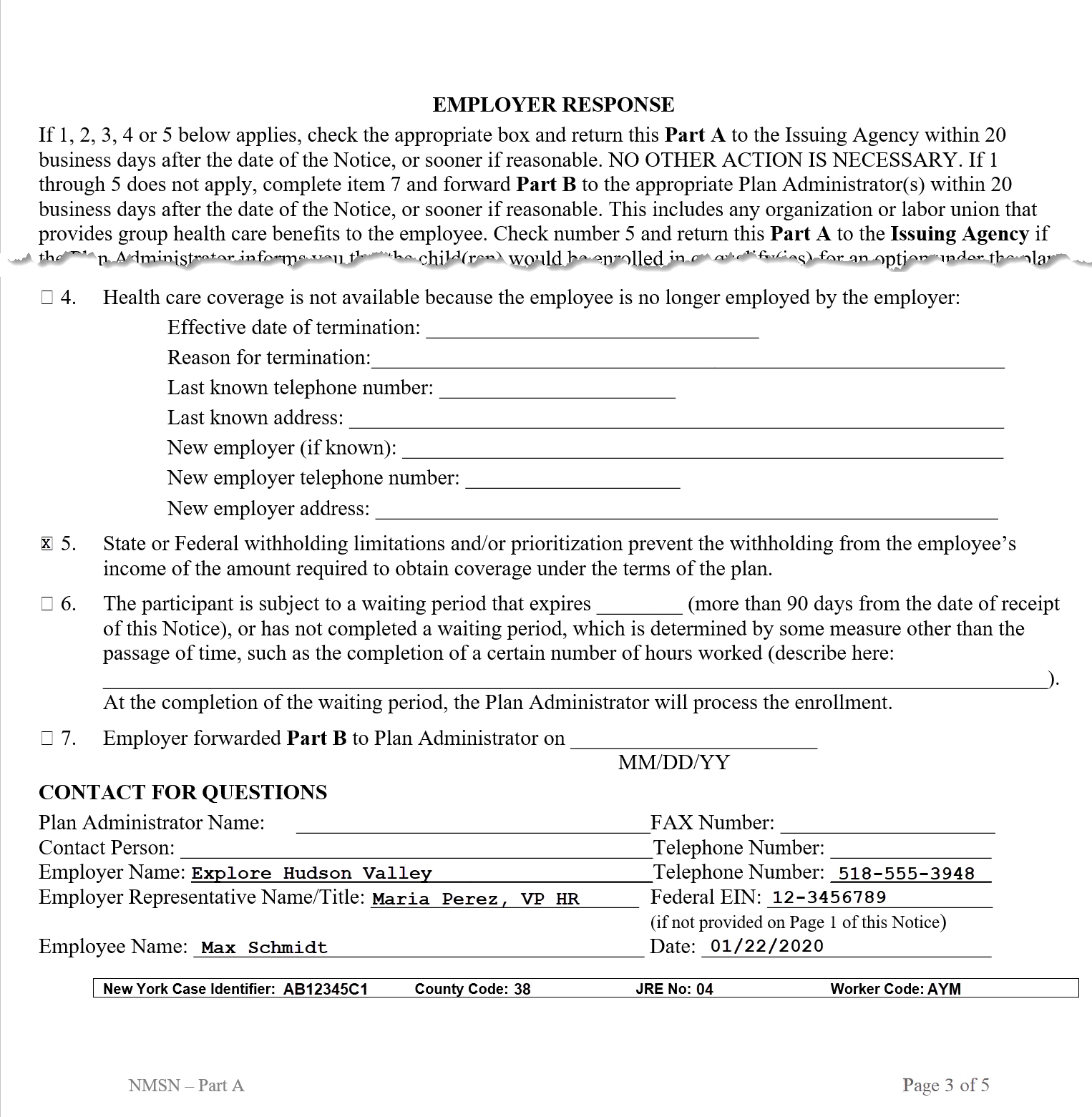 Printables Child Support Worksheet Ny nys dcse withholding for medical support notify the issuing agency if enrollment cannot be completed